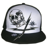 Black White Strapback Baseball Cap with Printing (CW-017)