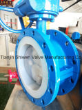 PTFE Lining Worm Gear Butterfly Valve