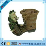 Polyresin Garden Decoration Items Resin Shoes with Frog