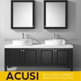 Modern Style Black Color Waterproof Solid Wood Bathroom Vanities (ACS1-W82)