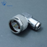 RF Male Clamp Right Angle Coaxial N Connector for Rg58 Cable