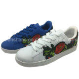 Ladies Flowers PU Injection Casual Footwear Shoes for Women (FSD819-5)