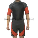 Short Neoprene Surfing Wetsuit with Nylon Fabric (HX15S67)