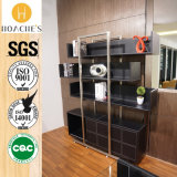 New Modern Style Book Cabinet with Brushed Stainless Steel (G01)