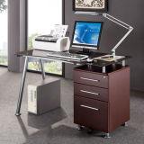 Metal Leg MFC Wooden Staff Clerk School Computer Table (NS-ND109)