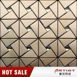 Spanish Mosaic Tiles, Gold Color Metal Wall Tile Mosaic Mix Mirror Glass