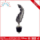 Wine Bottle Stopper with Feather Shape