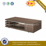 Glass Table Top Living Room Melamine Coffee Table (HX-CF023)