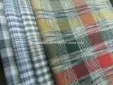 Cotton Yarn Dyed Space Dye Check Fabric for Shirt