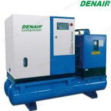 Stationary Combined Belt Driven Screw Air Compressor with Air Tank