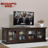 Simple Wood TV Stand Cabinet with Showcase (GSP15-005)