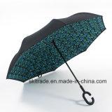 Colourful Portable Handsfree Straight Reverse Inverted Umbrella