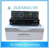 Worldwide Available Zgemma H5 Multistream Satellite/Cable Receiver Dual Core Linux OS MPEG4 H. 265 DVB-S2+T2/C Twin Tuners