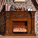 Rustic Wooden Indoor Fireplace Mantels (GSP15-004)