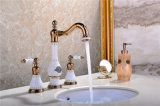 New Design Ceramic Antique Three-Hole Basin Faucet (Zf-607-1)