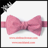Cotton Custom Woven Wholesale Mens Check Bow Tie