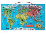 High Quality Magnetic Map Puzzle