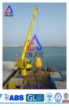 Hydraulic Ship Crane with Retracted Boom Certificated by ABS CCS BV ISO