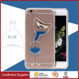 Red Wine Case Flowing Liquid Hard PC Protective Back Case
