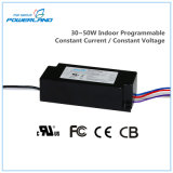 30~50W Indoor Programmable Constant Current / Constant Voltage LED Driver