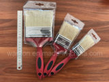 White Bristle Material Paint Brush with Rubber Handle