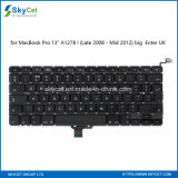 "Keyboard for MacBook PRO 13"" A1278 Big Enter UK/Late 2008 - MID 2012"