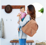 Stylish Design Nappy Baby Shoulder Backpack PU Leather Diaper Bag