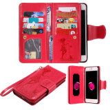 Phone Leather Case Wallet Case 9 Card Slots