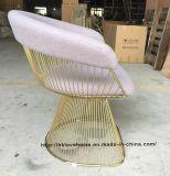 Leisure Dining Metal Restaurant Cushion Outdoor Steel Wire Chair