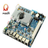 17W Lowest Consumption Atom Processor Mini-Itx Motherboard with 4LAN Port