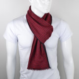 Luxury Cashmere Scarf for Adults with Grid Pattern
