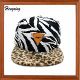 Custom Zebra Flat Snapback Hats and Caps