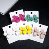 Wholesale Fashion Jewelry Flower Multicolor Three-Dimensional Earrings