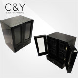 Black Double Glass Door Wooden Watch Winder