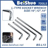 1/2′′ Drive Chrome Vanadium L Type Socket Wrench