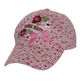 Cute Embroidery Flower Kids Baseball Cap with Metal Buckle (GK16-Q0118)