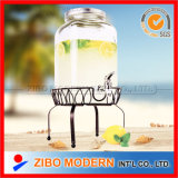 2015 New Products High Quality Lead Free Clear Storage Glass Jars with Tap Wholesale