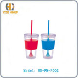 Single Wall Acrylic Cup with Matching Lids (HD-FM-P002)