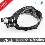 Newest Style Ultra Bright LED Headlamp CREE T6+2xr2 6000lm Headlight