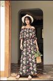 2017 Summer Fashion Floral Print Long Dress Chiffon New Style Women Dresses