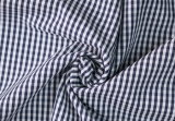Navy/White Classical Checks Plain Polyester Cotton Shirt Fabric