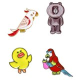 Silver-Tone Lovely Enamel Duck Parrot Bear Animal Custom Fashion Brooches