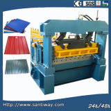 Step Tile Cold Roll Forming Machine