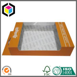 Supermarket Transparent Window Cardboard Packaging Box with Hanger