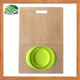 Whole-Piece Bamboo Oversink Cutting Board Chopping Board