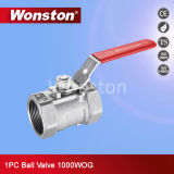 Stainless Steel 1PC Ball Valve 1000wog with Ce