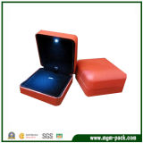 Simple Style Red Metal LED Jewellery Box