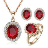 Fashion 925 Sterling Silver Jewellery Set with Gemstone