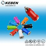 12V Colorful USB Universal Mini Car Charger Adapter (CC002)