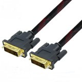 2m High Speed Gold-Plated Shielding Dual Link DVI Cable